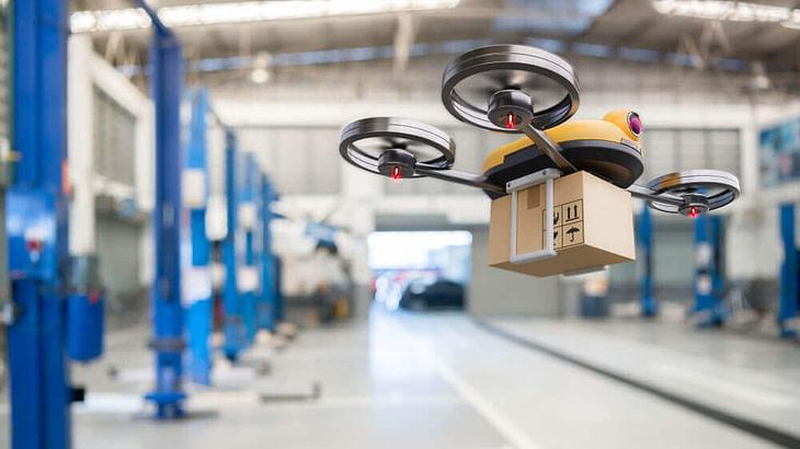 Tecnologia e logistica: droni per gestire l'inventario